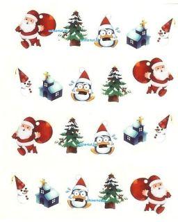 Sticker, Nail Art, Tattoo Sticker Nr. 008 911 Weihnachten