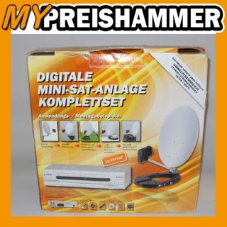 Mobile Camping Sat Anlage + Digitaler Orange Reciever mit Viacess