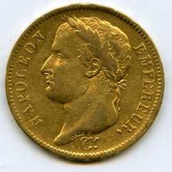 1811 French 40 Francs Napoleon Fance Gold Coin
