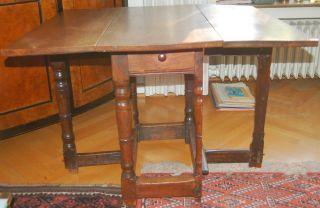 Englischer Gateleg Table Antik Tisch Salontisch England um 1890