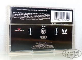 JOHN FARNHAM   FULL HOUSE 1991 BMG original Kassette tape cassette VG