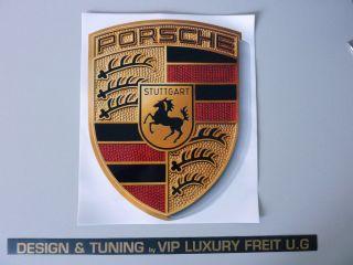 Für PORSCHE Wappen Aufkleber Sticker 911 997 993 991 996