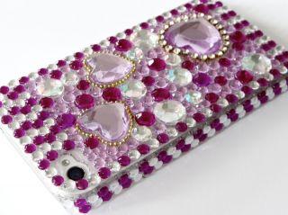 iPhone 5 STraSS BlinG COVER hard CASE HÜLLE tasche schale glitzer 3