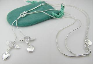 Neu 925 Silberkette Engelskette Halskette Engel Anhaenger suesses
