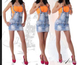 Neu Mini Jeans Latzrock 34 36 38 40 42 Jeans Latz Rock light blue