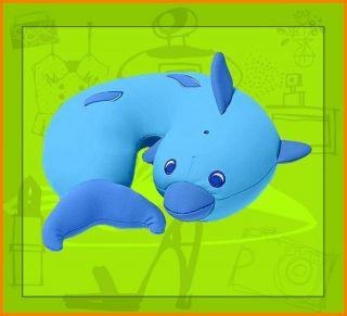 TCM Tchibo Kinder Nackenkissen Delfin Hueggli Nackenhoernchen Blau NEU