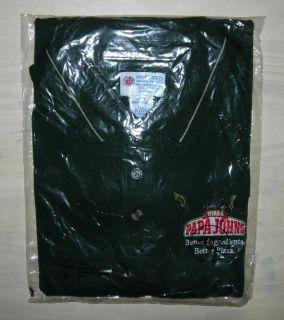 Papa Johns mens green polo shirt Extra large cotton & polyester