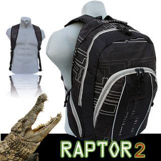 Rucksack Raptor Notebook Rucksack Schulrucksack Laptoptasche Schwarz