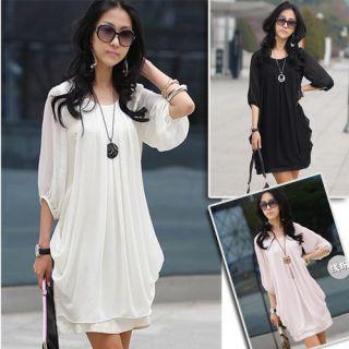 Kleid Blusen Top Shirt Damen Abendkleid S M L XL