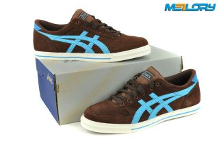 ASICS Aaron LE* brown / blue Gr.46,5 H935K * NEW * SCHUHE * SNEAKER