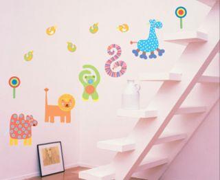 Kinderzimmer Wandtattoo Wandsticker Wandaufkleber Zootiere Kita Tiere