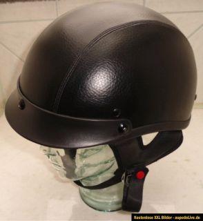 Jethelm Leder schwarz Gr.L 59/60cm Jet Helm JIX Halbschale Chopper