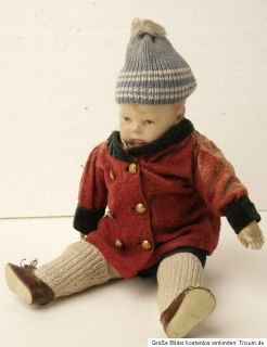 Käthe Kruse Puppe H. 43cm; m. Kleidung, s. Fotos, bespielt, ca.1928