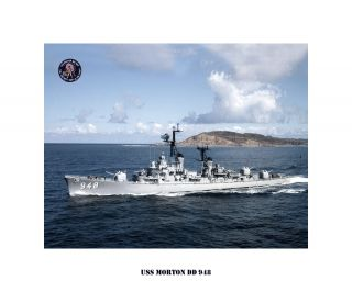 USS MORTON DD 948 , US Naval Destroyer, USN Navy Ship Print