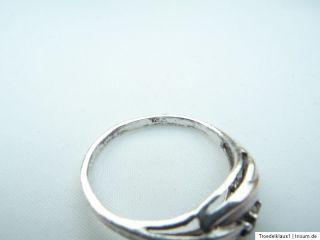 Theodor Klotz filigraner Saphir Silber Ring 925 Silber Gr.18,6mm