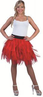 Petticoat Rock Damen Rot 50cm zu Karnevalskostuem Teufel Show 36 38 40