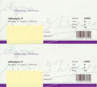 Karten Bayreuther Wagner Festspiele 2012   Lohengrin V am 19. August