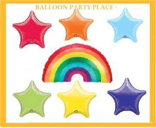RAINBOW birthday party SUPPLIES balloon decorations RED BLUE GREEN
