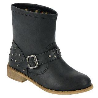 Damen Stiefelette Biker Boots 94614 Schuhe Nieten 36 41