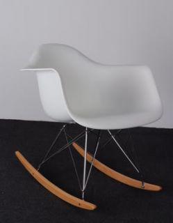 Vital Eames Style RAR Lounge Chairs Rocking Chair White , Black , Red