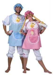 Baby rosa oder blau Damen Herren Kostüm Baby Doll Riesenbaby Fasching