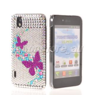 BLING GLITTER CRYSTAL RHINESTONE CASE COVER LG OPTIMUS BLACK P970 41