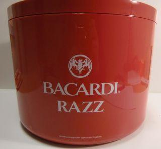 Bacardi Razz Glas Gläser Eisbox Ice Bucket Neu 10 L