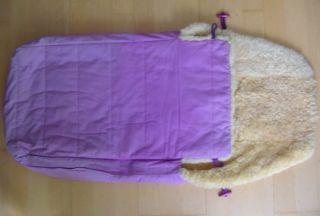 KAISER *Prinzessin* Lammfellfußsack für Kinderwagen/Buggy Fußsack