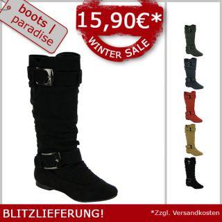 Wadenhohe Damen Schuhe Gr 36 41 Boots Stiefel 95057