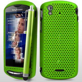Grün Stilvolle Mesh Hard Case Für Sony Ericsson Xperia Pro + Stift