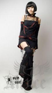 Punk Rave Gothic Strech Shorts Stülpen Röhren Visual Kei Hosen