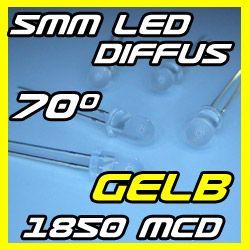100 GELBE 5mm LED Diffus GELB YELLOW Jaune LEDs 1.6 lm