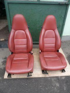 Porsche 986 996 911 SPORTSITZE SITZE SEATS Rot Leder