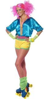 80s Lets Get Physical / Skater Girl 1980s Fancy Dress Eighties Ladies