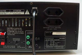 AM FM Stereo AV Receiver mit RDS in schwarz TOP Zustand (984)