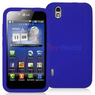 Blue Silicone Case Cover for LG Optimus Black P970 Marquee Ignite