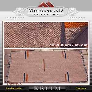 100% Handgewebter Kelim 130 x 67 cm carpet Rug tapis tapeto Orient