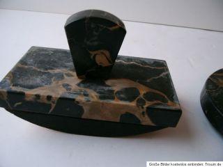 Alte Schreibtischgarnitur aus Marmor Art Deco Bauhaus Zeit TOP