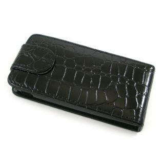 Flip Case/Handytasche zu Sony Ericsson Xperia ray   KROKO Schwarz