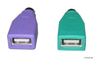 USB PS/2 Adapter für Maus und Tastatur