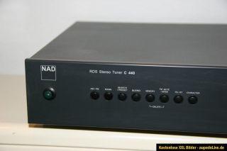 NAD C 440 RDS Stereo Tuner gebraucht optisch technisch 1A