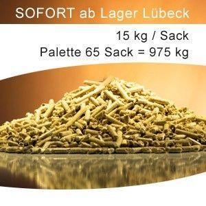 DIN+ Pellets Holzpellets 1 Palette à 65 Sack = 975 kg