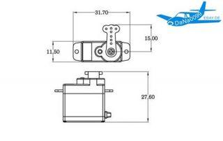 lIl Micro Mini Digital Servo Esky EK2 0508 7,5g Lama