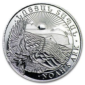 999 Silber Silver Silbermünze Armenien 100 DRAM 2012 Arche Noah ! NEU