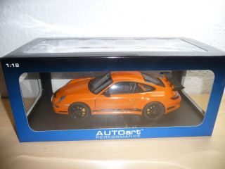 PORSCHE 911 997 GT3 RS ORANGE/BLACK 118 AUTOART NEU/OVP