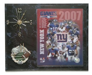 2007 New York Giants Team Picture Clock