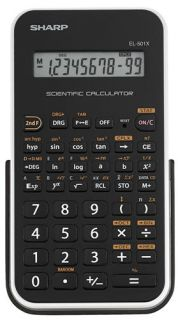 Sharp EL501XBWH 10 Digit Scientific Calculator