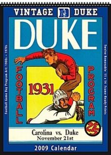 Duke Blue Devils 2009 Vintage Football Program Calendar