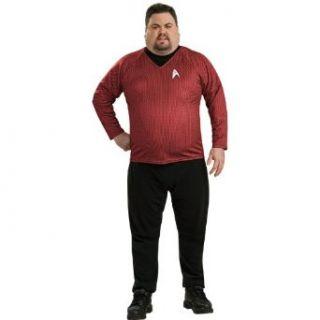 Star Trek Movie 2009 Red Shirt Deluxe Adult Plus Costume