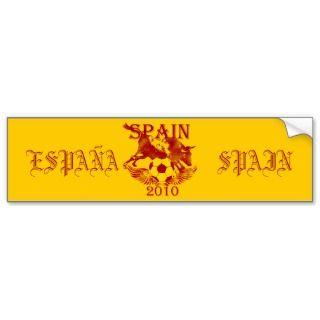 Spain 2010 Toro Bull Espana futbol bumper Sticker